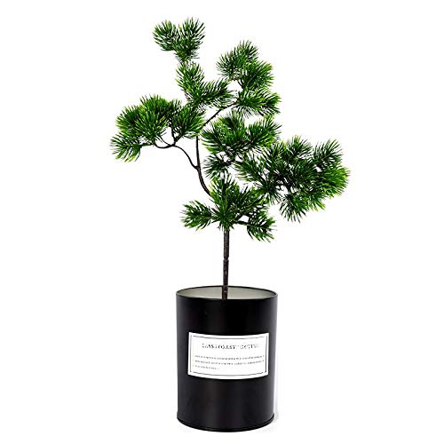 Artificial Leaf - 40cm Single Big Pine Branch Simulation Green Leaves Plant Welcoming Bonsai Home Decoration Fake - Kitchen Garland Purple Yucca Nearly Indoor Privacy Blossom Rubber Lemo