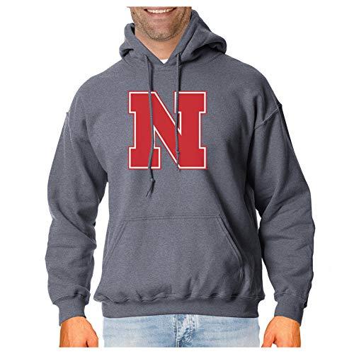 Elite Fan Shop Nebraska Cornhuskers Hooded Sweatshirt Charcoal Icon - M ()