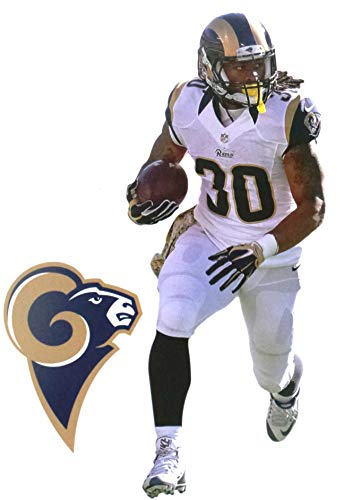 """FATHEAD Todd Gurley Mini Graphic + Los Angeles Rams Logo Official NFL Vinyl Wall Graphics 7"""" INCH"""
