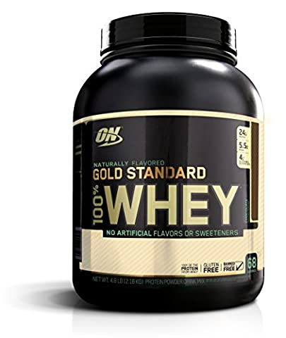 Optimum Nutrition Gold Standard 100% Whey Protein Powder, Naturally Flavored Chocolate, 4.8 Pound - Gold Standard Chocolate