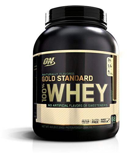 OPTIMUM NUTRITION GOLD STANDARD 100% Whey Protein Powder, Naturally Flavored Chocolate, 4.8 Pound (Whey Nutrition Protein)