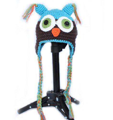 Crochet Baby Ear Flap Hat - Newborn Baby Boy Girl Ear Flap Hat Knitted Cap Handmade Beanie
