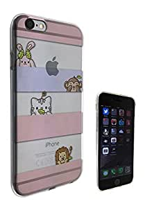 c0318 - Cool fun Cute kawaii art kitten bunny lion monkey Design iphone 5 5S Fashion Trend CASE Gel Rubber Silicone All Edges Protection Case Cover