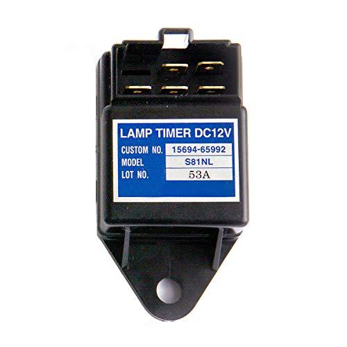 Notonmek Timer Lamp 2V Time Relay Quickglow Timer Light 15694-65990 for Kubota KH-101 KX121-2 KH-151 KH-191 KH-36 KH-41 KH-51 KH-61 KX101 R310 R410 R420 R510 R520 -  F8T93JD9229