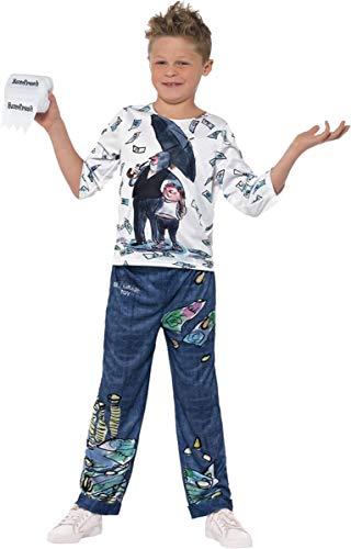 Sportsgear US David Walliams Deluxe Billionaire Boy Costume Blue & Whte Large Age 10-12 -