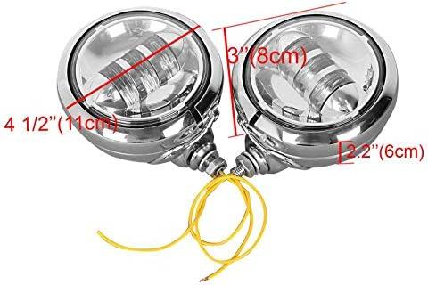 LED Zusatzscheinwerfer Set 4,5 f/ür Yamaha XV 1900 Midnight Star Chrom