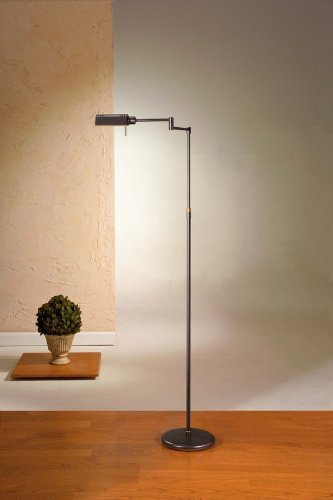 Halogen Pharmacy Floor Lamp - Holtkoetter 6317 HBOB Classic Halogen Floor Lamp, Hand-Brushed Old Bronze