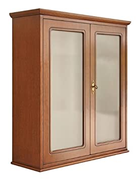 Wall Cabinet Dispay Unit In Wood 2 Glass Doors Wooden For Kitchen Cupboard Display Dining Room