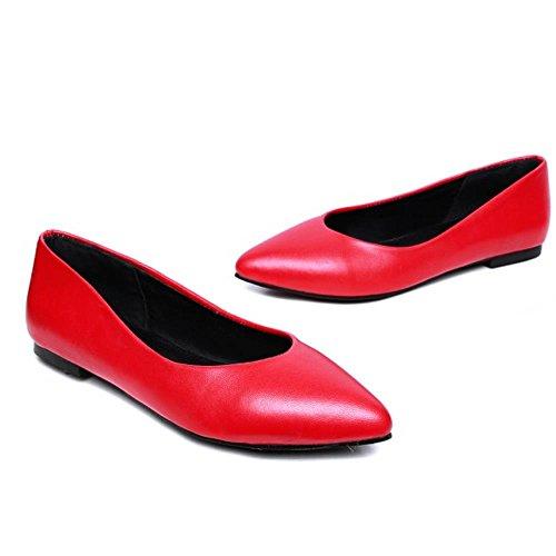 Plat Confortable Femme Dolly Ecole Ballet Tailles Escarpins Mode Chaussures Rouge Grands COOLCEPT Filles OpXqEwq