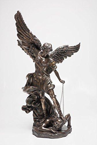 PTC 47 Inch Large Saint Michael The Archangel Resin Statue Figurine
