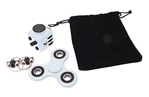 Zen Monkey Fidget Bundle Includes Spinner, Cube, and Chain Toys - Perfect For ADD, ADHD, Anxiety, and Autism - Adults & (Monkey Kit With Sound)