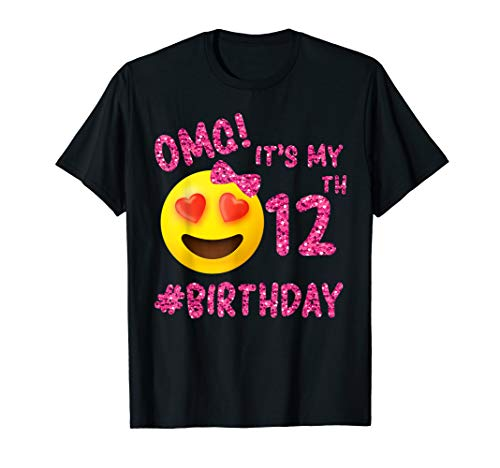 OMG It's My 12th Birthday | Emoji Shirt For Birthday Girls