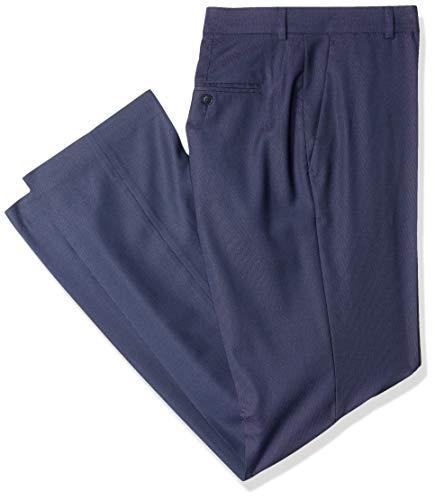 (Perry Ellis Big and Tall Portfolio Men's B&T Classic Nailhead Dress Pant, Bering sea, 44x34)