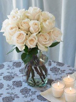 One Dozen White Roses One Dozen Organic Bouquet