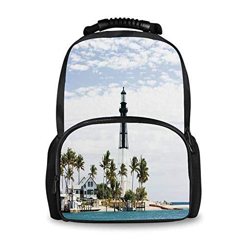 United States Adorable School Bag,Hillsboro Lighthouse Pompano ()