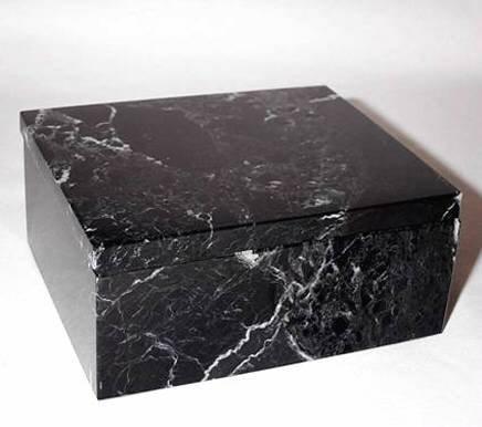 - Khan Imports Small Black Marble Urn Box, Decorative Stone Keepsake Urn for Ashes - 5 Inch