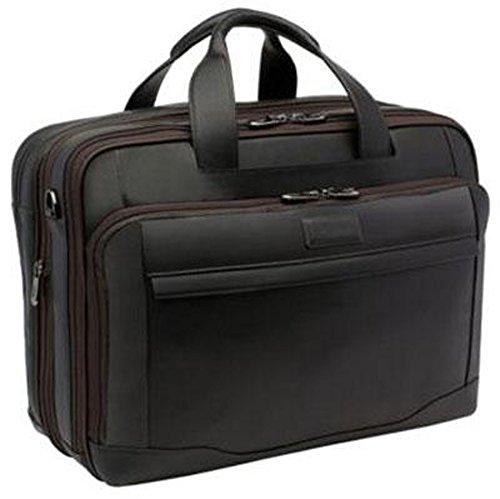 Hartmann Aviator Zipper Briefcase Expandable Dark Roast by Hartmann