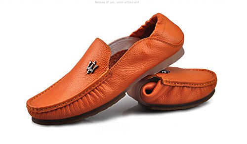 Happyshop (tm) Mens Mocassino Casual Ventilato Casual Slip-on Mocassini Auto Guida Scarpe Quicheshoes Arancione