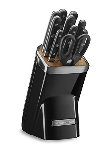 KitchenAid KKFMA11OB Professional Series 11 Piece Cutlery Set, Onyx (11 Piece Professional Cutlery Set)