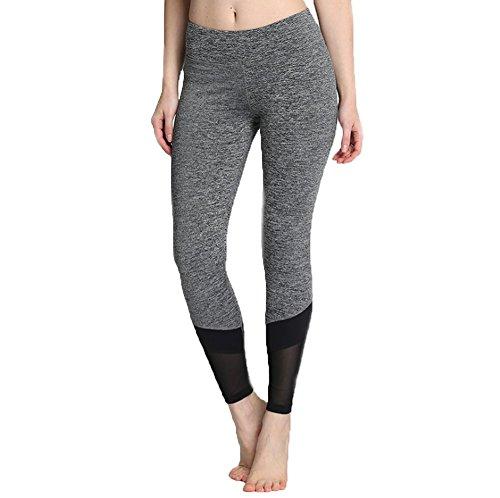 YQFSSH Fashionable Flexible Gauze Movement Fitness Yoga Pants Have Leg Protection Function(Gray S) (Pant Leg Gauze)