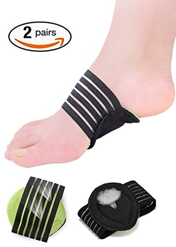 Etery Compression Fasciitis Cushioned Arch Support Sleeves(2Pairs),