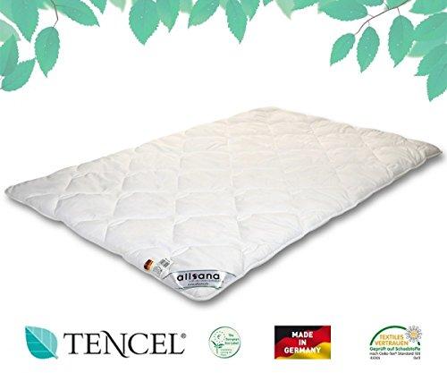 allsana TENCEL® Klimafaser Duo Steppbett 155x220 cm, Lyocell Winterdecke für Allergiker, waschbar bei 60°C, Tencel Bettdecke warm bei Allergie