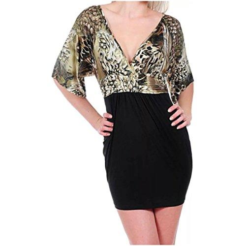 metallic animal print dress - 3