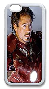 iphone 6 plus 5.5inch Case and Cover Iron Man Robert Downey Jr TPU Silicone Rubber Case Cover for iphone 6 plus 5.5inch White by mcsharksby Maris's Diary
