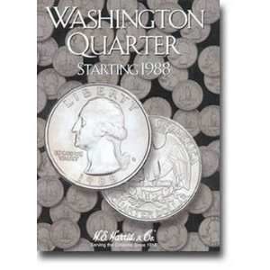 H.E. Harris Harris Washington Quarter #4 Folder 1988-1998 (#2691)