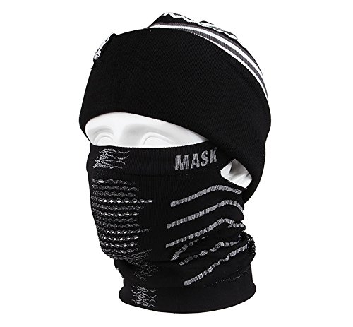 Lorsoul Outdoor Face Mask Balaclava - Multifunctional Seamle