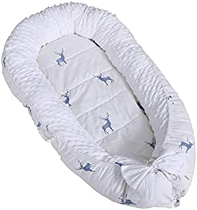 Baby Nest Newborn Baby Lounger Soft Breathable Cotton for Newborn & Babies Sleeping Pod Baby Bassinet for Bed/Style 1