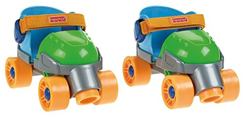 Fisher-Price Grow with Me 1,2,3 Roller Skates, Green (Baby Skate)