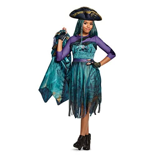 Disguise Uma Deluxe Descendants 2 Costume, Teal, Medium (7-8)
