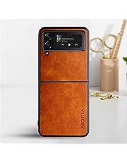 Flip 3 Case Kompatibel med Saamsung Z Flip 3 5g Mobiltelefon Skyddskåpa Tvåfärgad Avokado Mobiltelefonväska,Orange