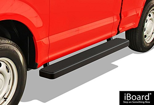 "APS Premium 6"" Black iBoard Running Boards Fit 15-18 Ford F150 Regular Cab / 17-18 F250"
