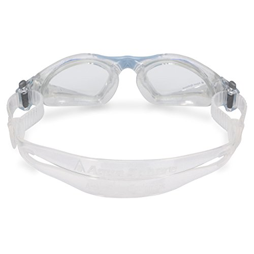 Aqua Sphere Kayenne Ladies Swimming Goggle with Clear Lens, Clear & Blue UV Protection Anti Fog Swim Goggles for Women by Aqua Sphere (Image #2)