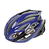 QHY FJQXZ Integrally-molded EPS+PC Blue Cycling Helmets (21 Vents)