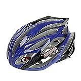 MCH-FJQXZ Integrally-molded EPS+PC Blue Cycling Helmets (21 Vents)