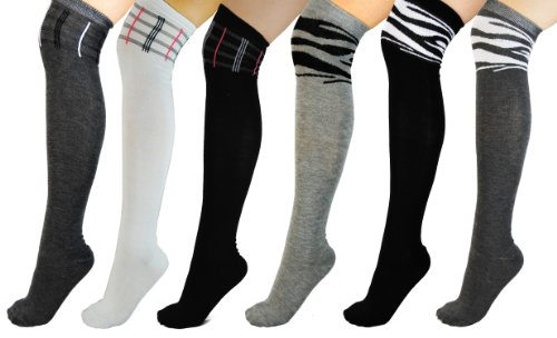 Zebra Knee Socks - 5