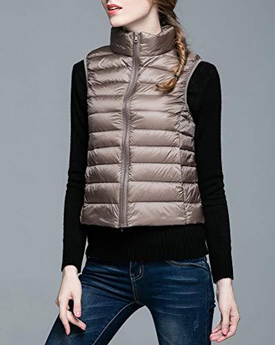 Vest Suncaya Ultra Light Gilet Jacket Camel Coat Women's Weight Down Packable Puffer qrw1XAI7r