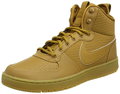 Baskets Marron Light Court gum Brown wheat Winter wheat Mid black Hautes Nike Homme Borough wRq0fI