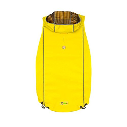 Reversible Rain Jacket for dogs (XL, Yellow) by Go Fresh Pet (Image #3)