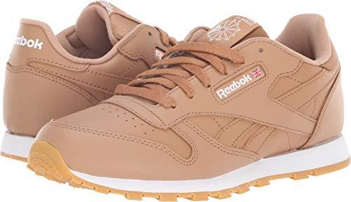 Shoe Watches Children (Reebok Unisex Classic Leather Sneaker, Gum-Soft Camel/White, 6.5 M US Big Kid)