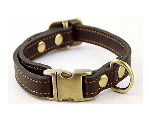 Strimm Luxus Einstellbar Handgefertigt Lederhalsbänder für Kleine Hunde/ Welpen