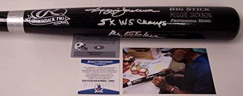 Reggie Jackson Autographed Hand Signed Rawlings Black Baseball Bat - BAS Beckett