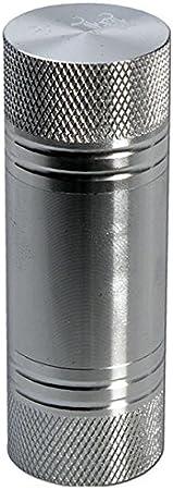 PatchouliWorld Black Leaf - Prensa de polen, plateado acero, Höhe: 60mm - Durchmesser: Ø 26mm