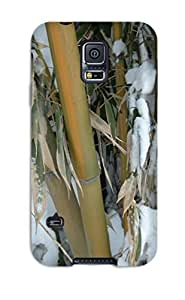 DeniseMA Scratch-free Phone Case For Galaxy S5- Retail Packaging - Bamboo In Snow Nature Other