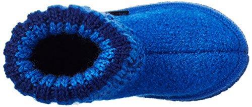 Haflinger Unisex-Kinder Paul Hohe Hausschuhe Blau (Kobalt 74)