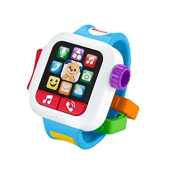 Fisher-Price Laugh & Learn Time to Learn Smartwatch, Learning Toy with Lights, Music and Sound