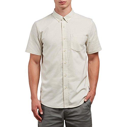 Volcom Men's Everett Oxford Short Sleeve Shirt, LINT, S (Oxford Street Outlet)